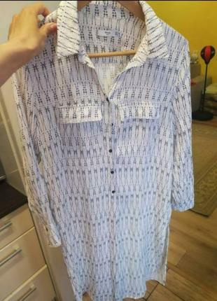 Удлиненная рубашка mango