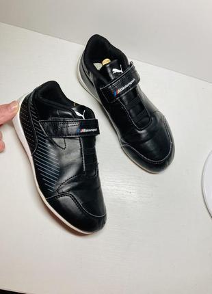 Кроссовки чёрные bmw puma на мальчика кеды бутсы 31 размер
