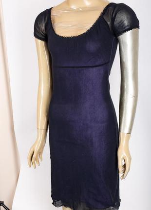 Дуже симпатичне плаття з фіолетовою підкладною