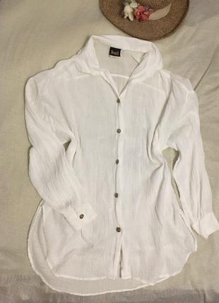 Dotti чудесная белая легкая длинная блуза