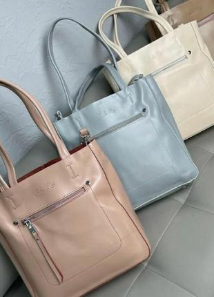 Женская кожаная сумка жіноча шкіряна сумочка шопер кожаный