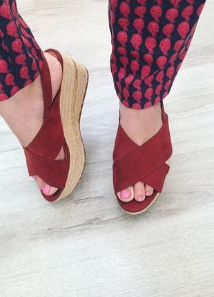 Босоножки сандали на соломеной подошве h&m