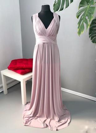 Красивое вечернее платье в пол с переплетением по спине asos asos1160