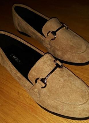 Лоферы туфли беж