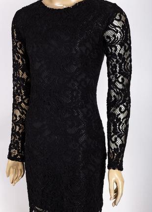 Нарядне мереживне плаття з підкладкою