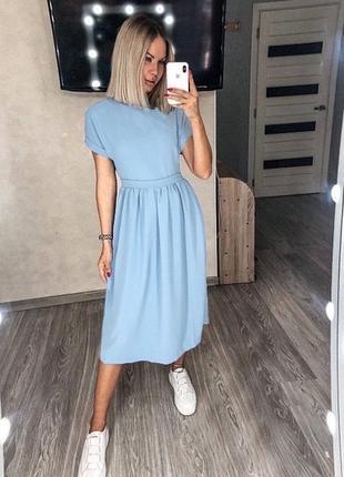 Платье миди, сукня міді5 фото