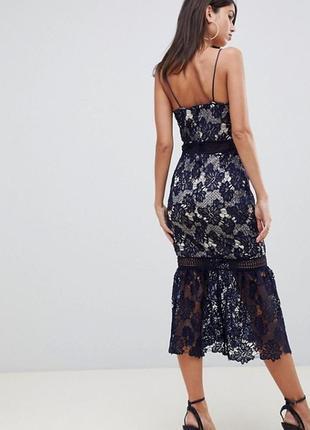  total sale эксклюзивное платье мили из кружева фасон рыбка missguided ms987