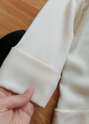 Женский строгий нарядный брендовый белый кремовый молочный жакет блейзер пиджак new look - р 42-445 фото