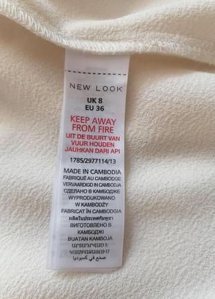 Женский строгий нарядный брендовый белый кремовый молочный жакет блейзер пиджак new look - р 42-448 фото