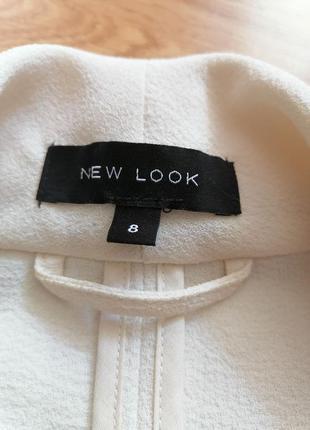 Женский строгий нарядный брендовый белый кремовый молочный жакет блейзер пиджак new look - р 42-447 фото