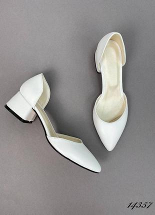 🛍женские туфли на маленьком каблуке натуральная кожа