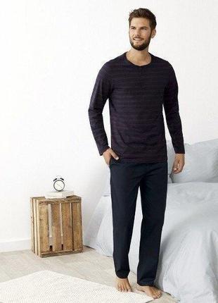Мягкий домашний комплект, пижама из натурального хлопка  livergy
