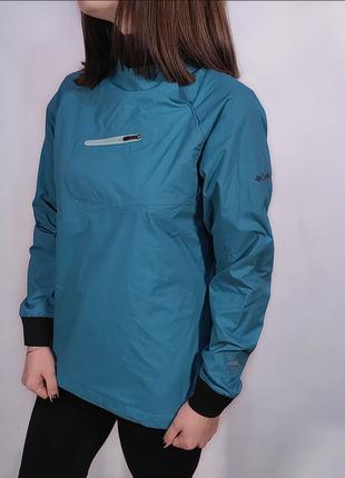 Ветровка анорак columbia titanium | omni-heat omni-tech | мембранная куртка в стиле salomon