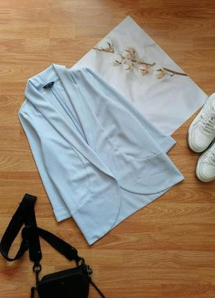 Женский строгий нарядный брендовый нежно-голубой жакет блейзер пиджак new look - размер 42