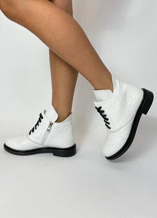 Ботинки шкіра, замш