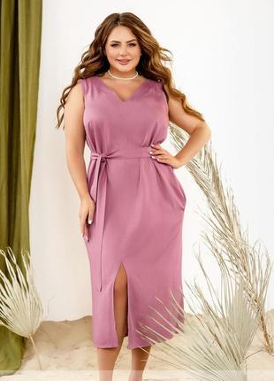 Летнее коттоновое платье прямого кроя размеры 42-44,46-48,50-52,54-56,58-60,62-64,66-68 (2291)