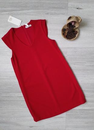 Женское красное платье свободного кроя everis (italia)