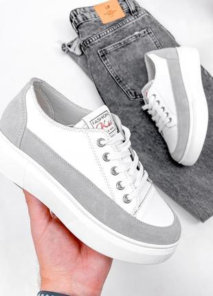 Кроссовки женские under белые + серый