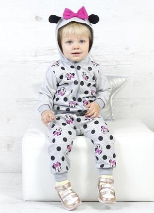 Серый костюм для малышки минни маус