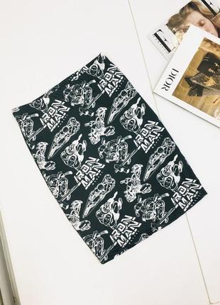 Оригинальная выская юбка с принтом от marvel comics x atmosphere  1+1=3 на всё 🎁