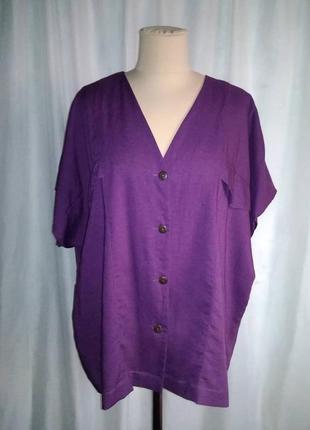 Рубашка фиолетовая, вискоза