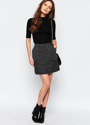 Крутая мини юбка в полоску с карманами от new look  1+1=3 на всё 🎁