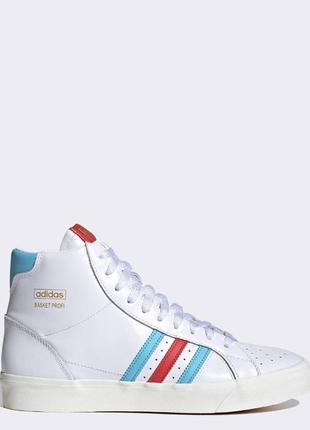 Высокие киданные белые винтаж кеды adidas