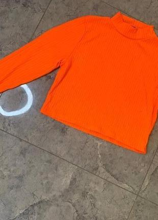 Летняя распродажа 🔥🔥🔥 ярко оранжевая кислотная водолазка