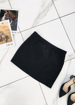 Черная джинсовая мини юбка стретч деним от h&m 1+1=3 на всё 🎁