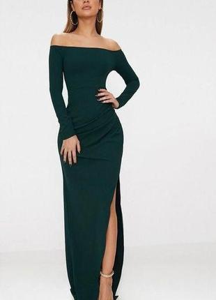 Летняя распродажа 🔥🔥🔥 зеленое изумрудное макси вечернее платье стрейч