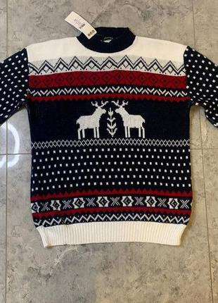 Летняя распродажа 🔥🔥🔥 оверсайз унисекс свитер с оленями