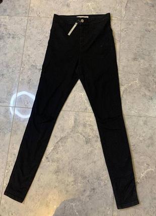 Летняя распродажа 🔥🔥🔥 женские стрейчевые черные джинсы с прорезами на высокую