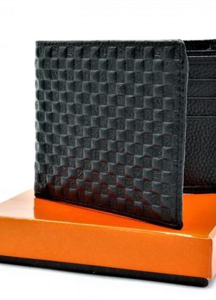 Кожаный кошелек - чёрный