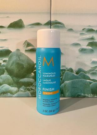 Сша 🇺🇸 moroccanoil сияющий лак для волос с арганой luminous hairspray strong finish, 75 мл2 фото