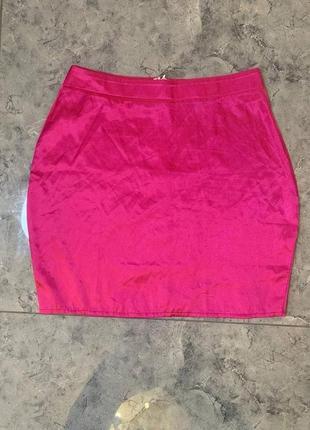 Распродажа все по 200 грн 🔥🔥🔥 розовая сатиновая мини юбка