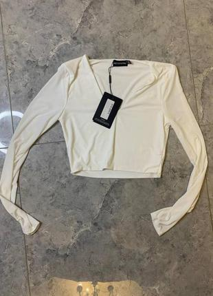 Распродажа все по 200 грн 🔥🔥🔥 белый топ блуза из дайвинга