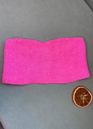 Распродажа!!топ от купальника жатка , яркий розовый цвет, барби, asos
