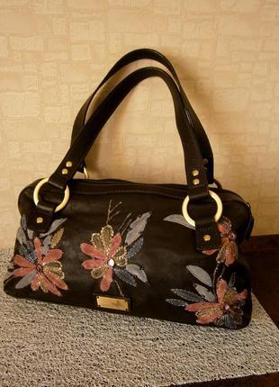 Красивая сумка из натуральной кожи. butterfly mattew williamson