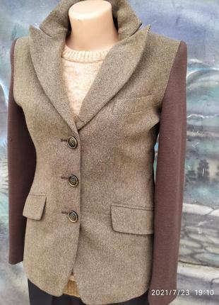 Винтажный пиджак,премиум люкс класса 100%шерстьь