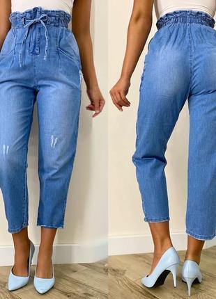 Летние джинсы мом
