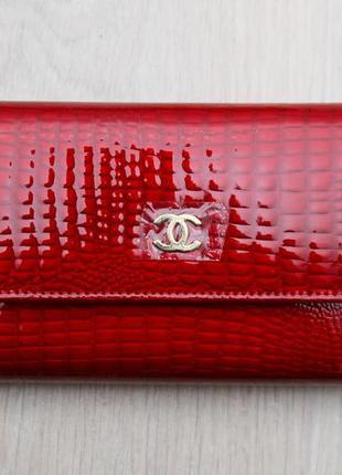 Женский кожаный кошелек темно красный с визитницей