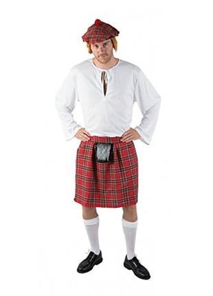Шотландская юбка килт карнавальная 48-50