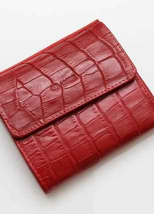 Женский кожаный кошелек grande красный 2765-rcroco