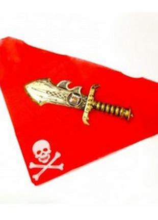 Набор пирата, бандана, кинжал, аксессуары
