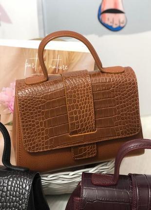 Женская кожаная сумка италия карамельная кэмэл жіноча шкіряна сумка італія