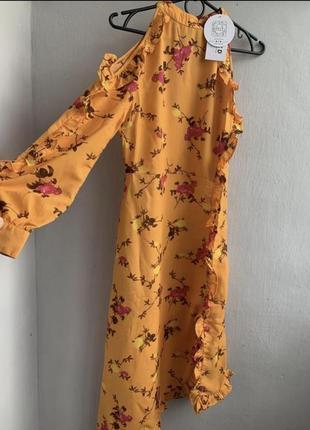 Шифонове плаття в квітковий принт2 фото