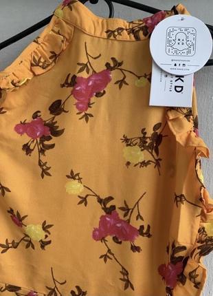 Шифонове плаття в квітковий принт3 фото