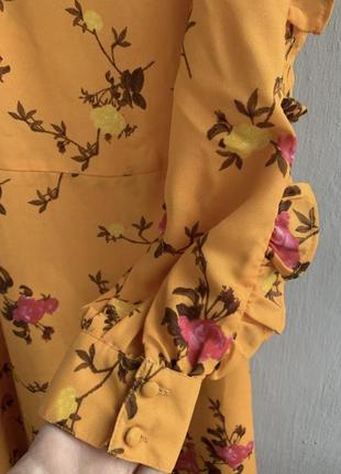 Шифонове плаття в квітковий принт4 фото