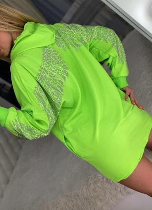 🔥 шикарная туника платье со стразами