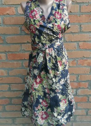 Роскошное хлопковое платье на запах